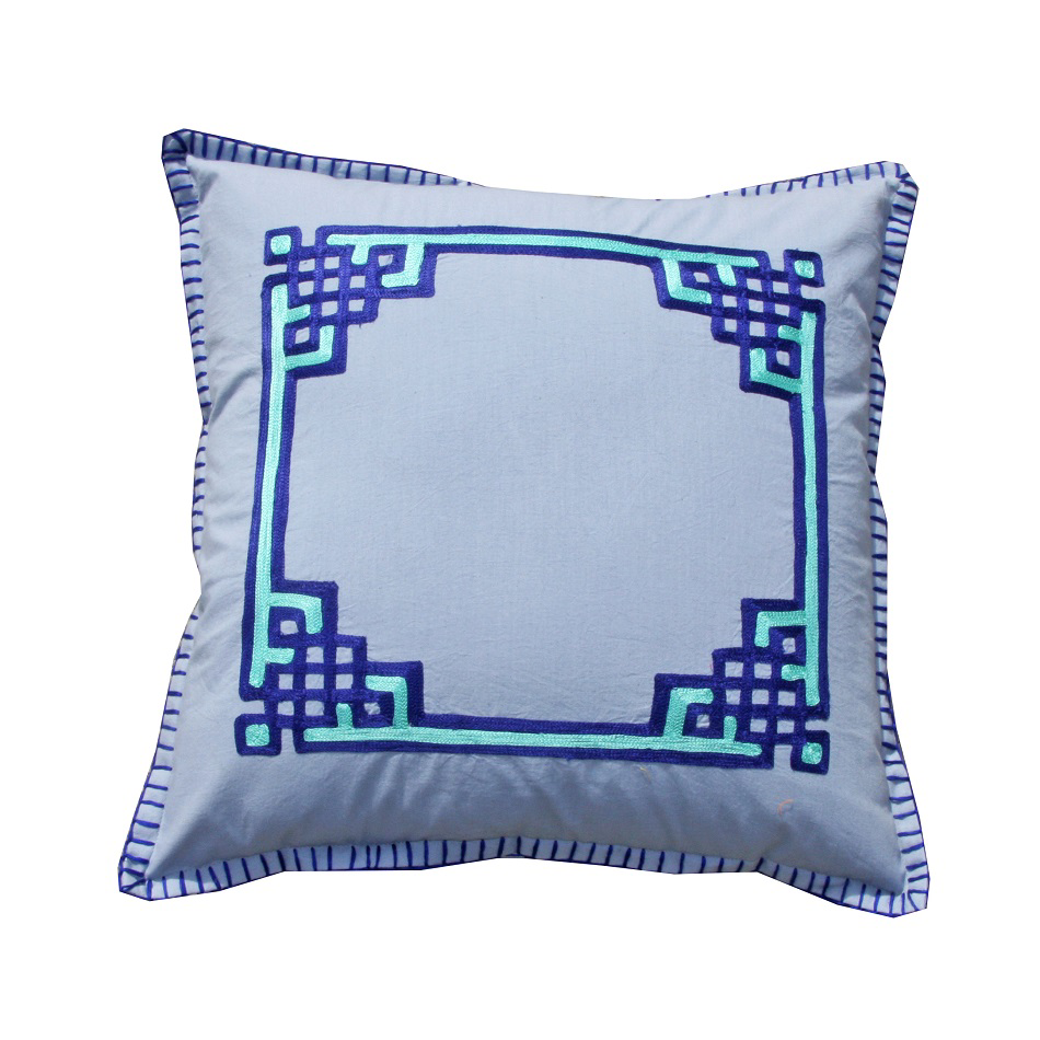 Blue Stitches Cushion