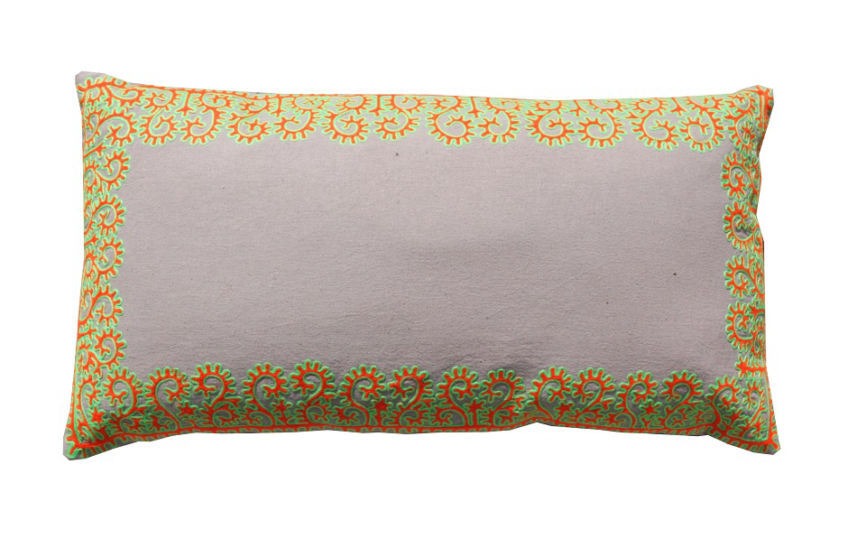 Citrus Border Cushion