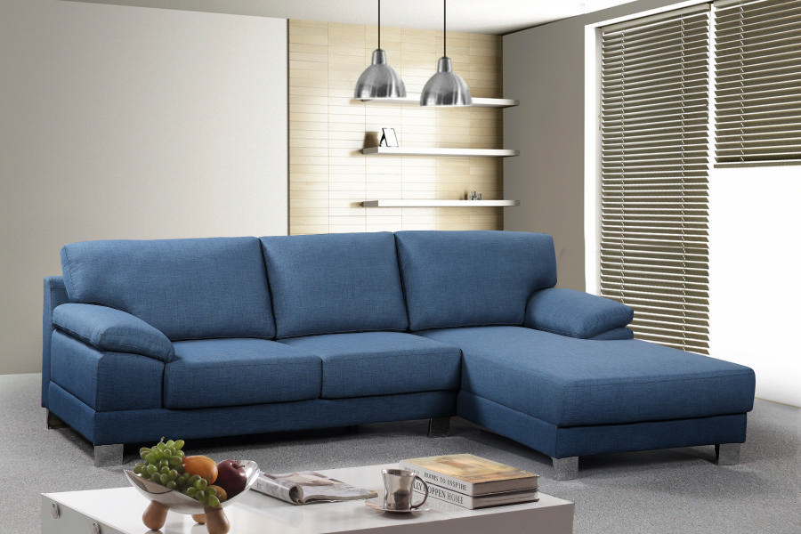 Empire Chaise Suite RHF Blue