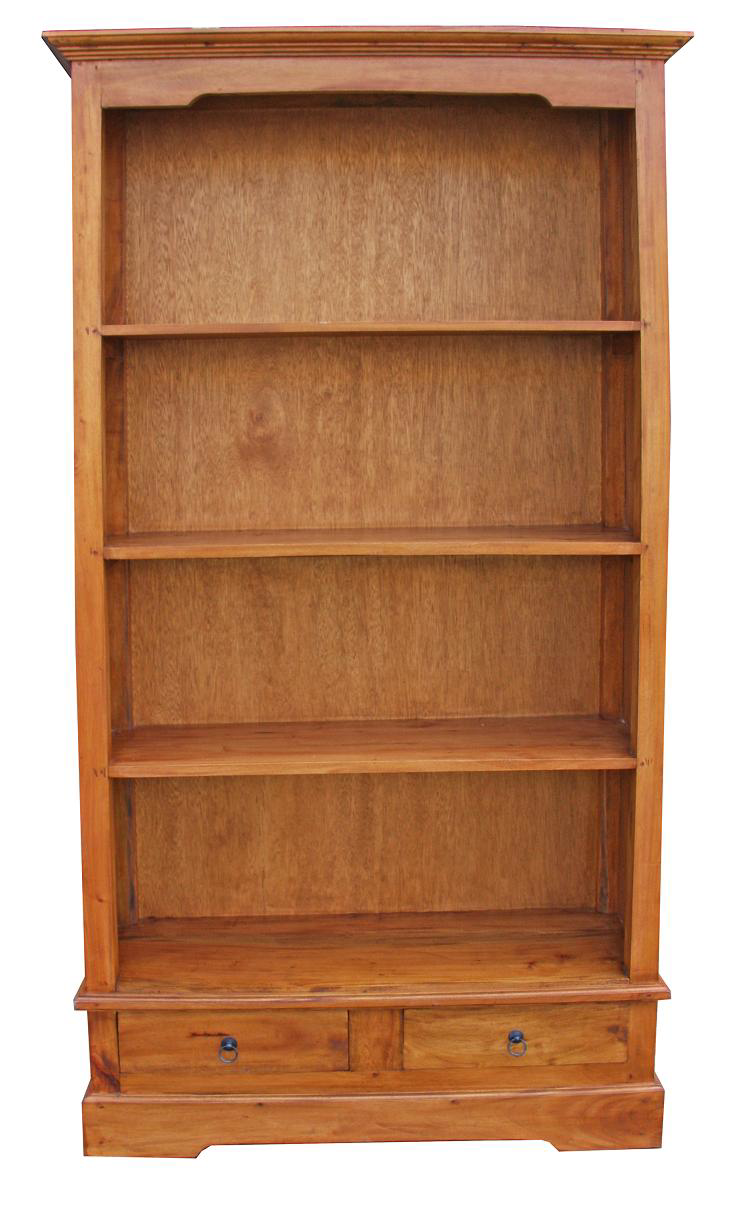 Angela Bookcase - Natural Timber Finish