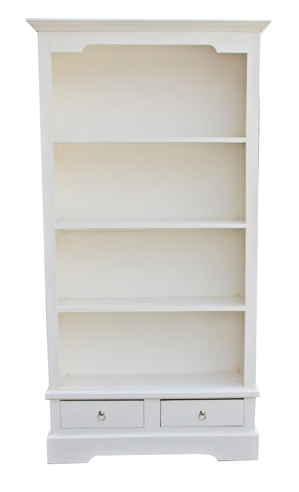 Angela Bookcase - Distressed White