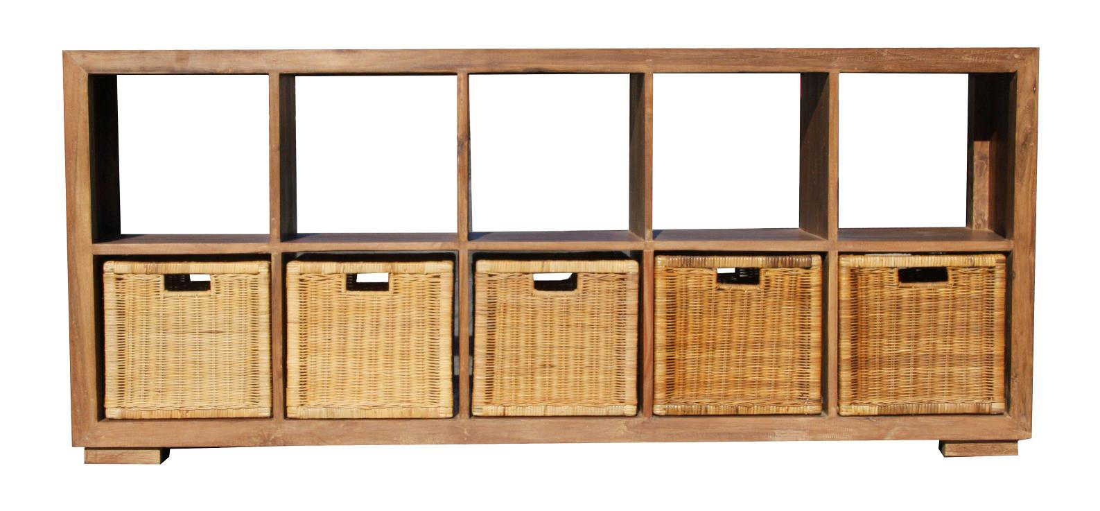 Hanna 10 Cube Mahogony Chest - Natural Wash