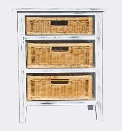 Karen 3 Drawer Chest - White Wash