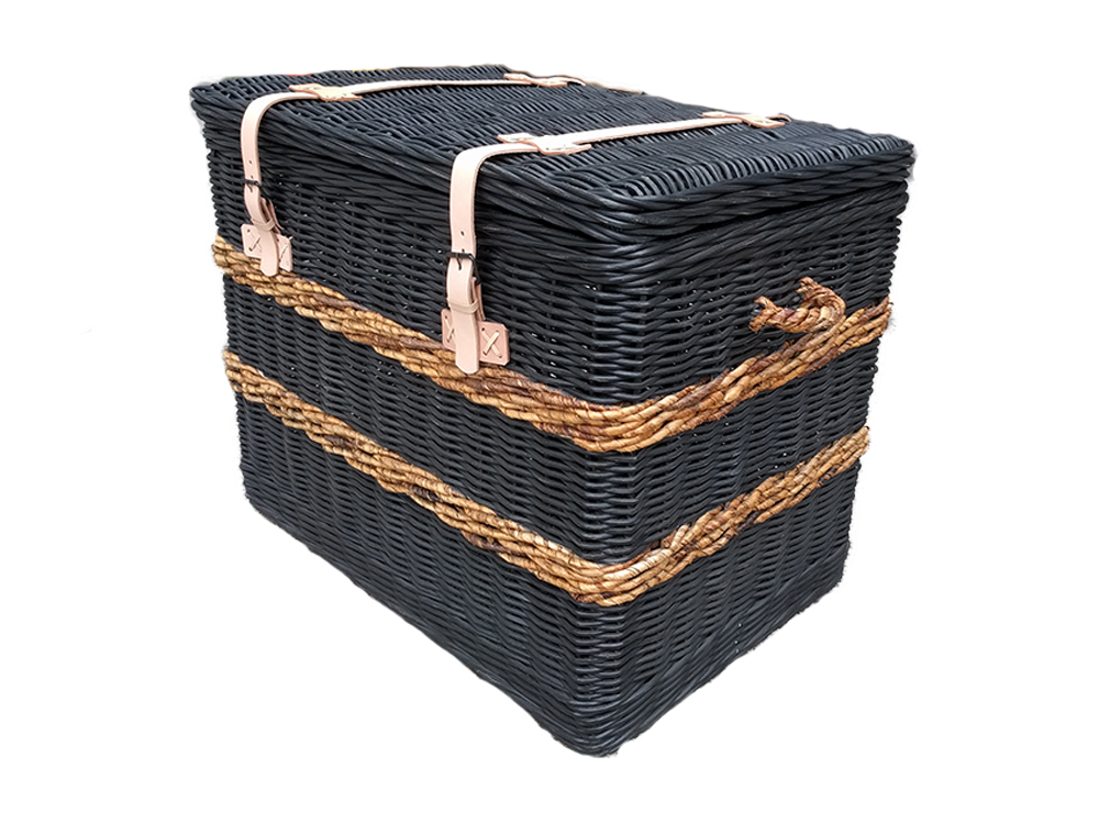 Hyams Wicker Storage Chest Black