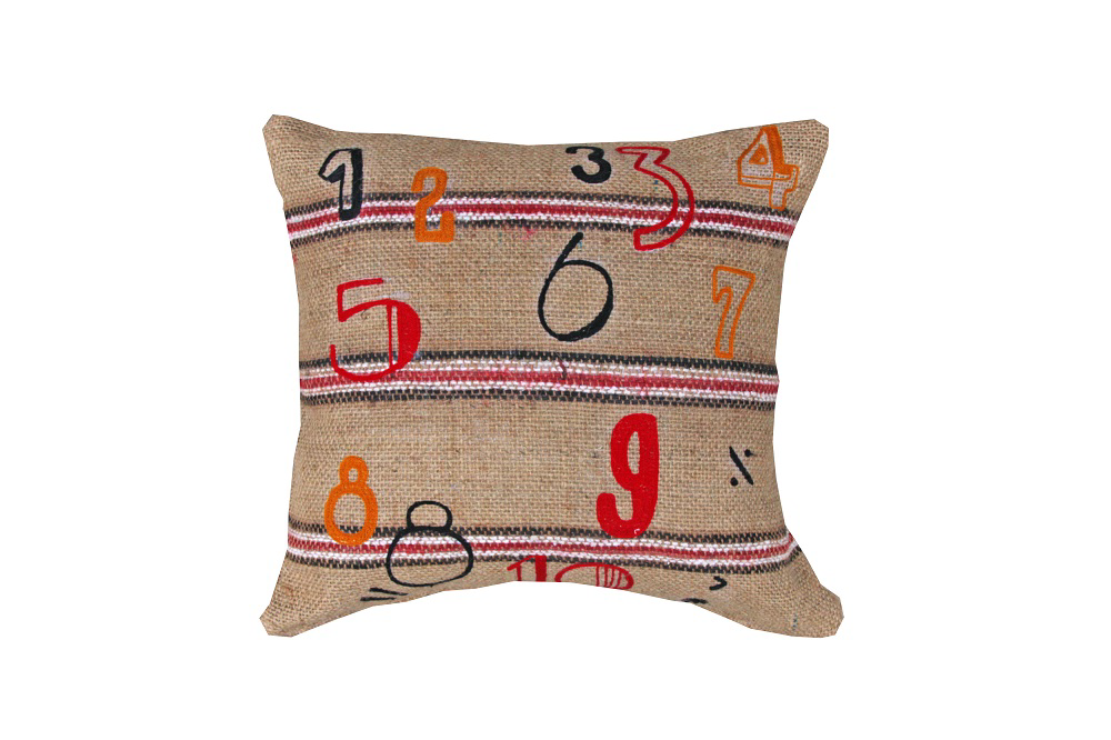Cushion - Jute with Numbers 45 x 45